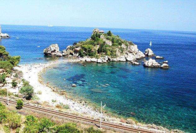 Taormina wyspa Isola Bella