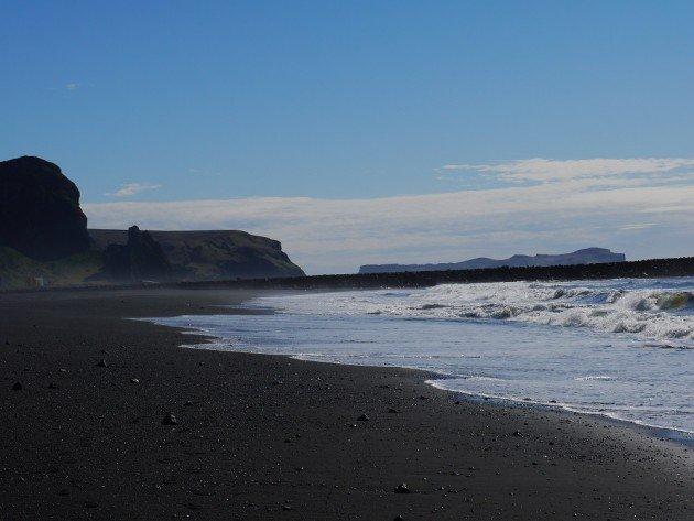 Plaża w Vik o poranku