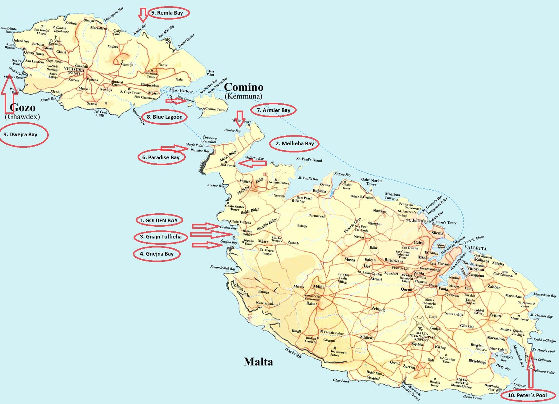 piaszczyste plaze malta